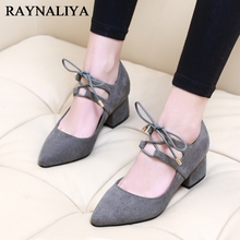 Nice New Spring T-Strap Pointed Toe Woman Shoes Sexy Women Pumps Square High Heels Ladies Wedding Shoes Formal Shoes CH-A0028
