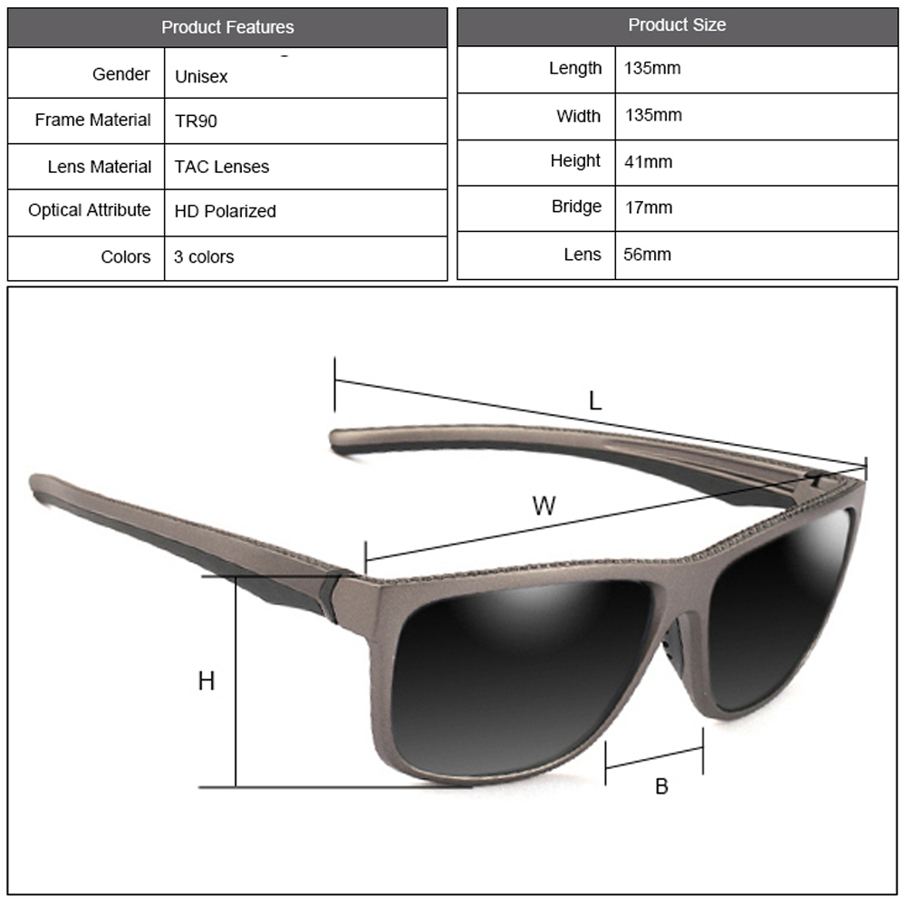 Brand Design Trending Sunglasses Mens Polarized Outdoor Sports Anti Glare UV Fishing Polarized Glasses Square Driving Sunglasses in Men 39 s Sunglasses from Apparel Accessories