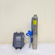 3FLD3. 2-40-48-400 48 V Солнечный DC бесщеточный водяной насос из нержавеющей стали глубокий хорошо насос с контроллером для орошения 3.2m3/h 400 W