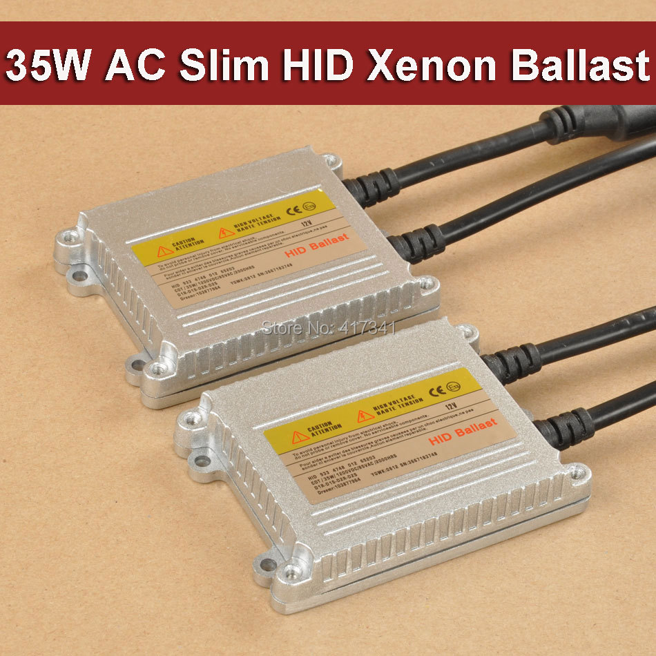 Free Shipping 35W AC 2PCS HID Xenon Ballasts High Quality Super Slim Replacement for Auto Headlight H1 H4 H7 H8 H9 H11 9005 9006 цены онлайн