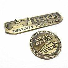 1 Juego de etiquetas traseras para Jeep Willys JK, Cherokee, TJ, Wrangler, 1 unidad, 1941, 75 años y Trail Rated 4x4