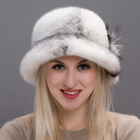 JKP Real whole mink fur fashion cap female winter hat luxury fur cap flower with Russian Skullies & Beanies hat 2018 DHY17 28A