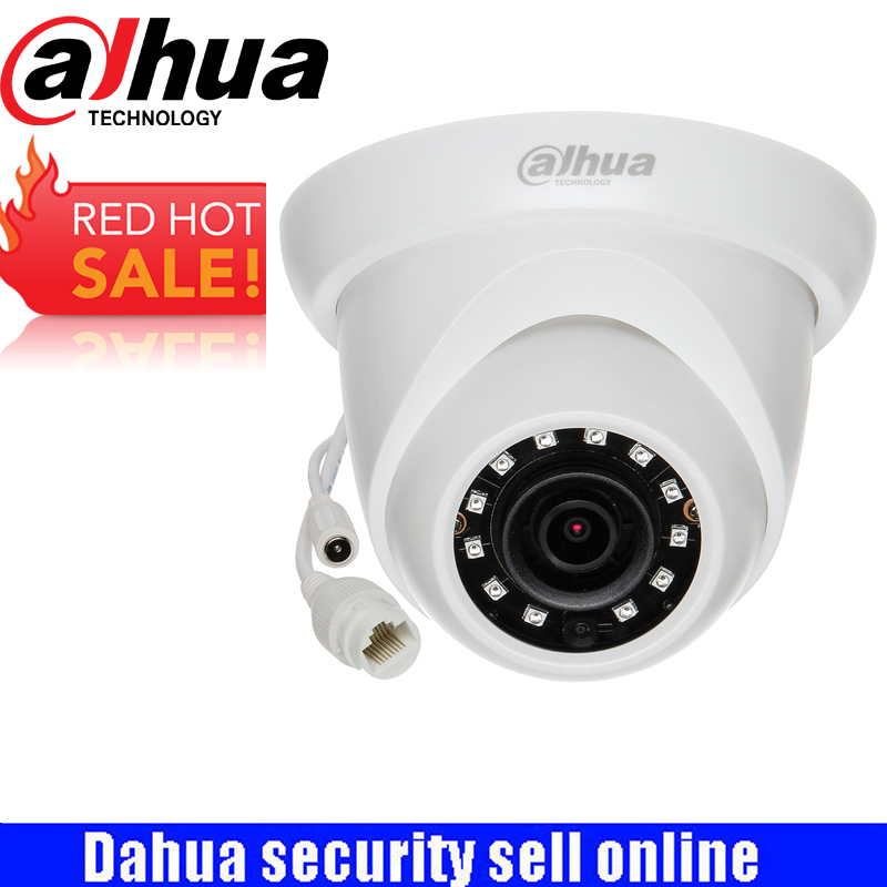 DAHUA Security IP Camera 5MP WDR IR Eyeball Network Camera With POE IP67 With Logo IPC-HDW1531S free shipping dahua cctv camera 4k 8mp wdr ir mini bullet network camera ip67 with poe without logo ipc hfw4831e se