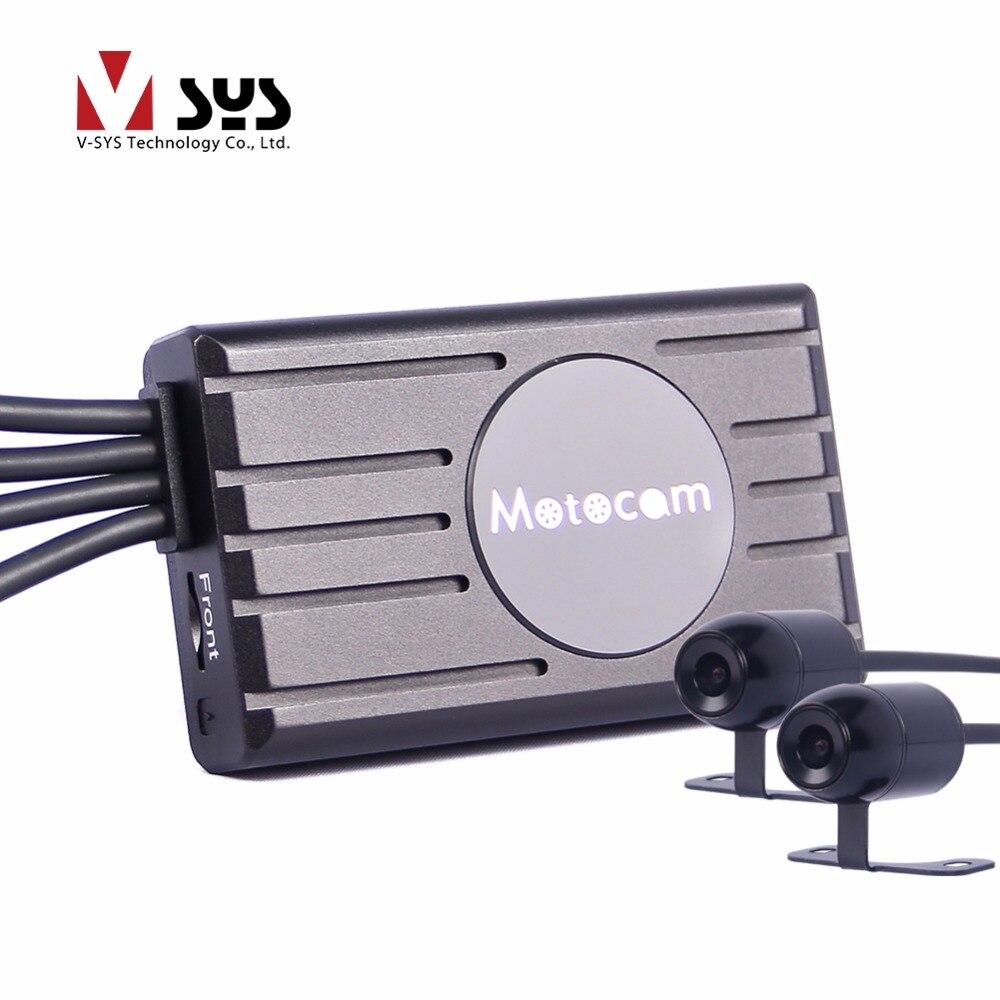 imágenes para Vsys X1F Más Nuevo dvr Motocicleta con verdadera 1080 P dual lente cena capacitor ayuda del perseguidor del GPS de control de alambre