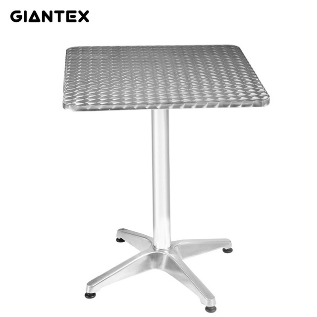 Superieur GIANTEX Modern Silver Aluminum Stainless Steel Square Bar Table Pub  Restaurant Commercial Furniture OP2797