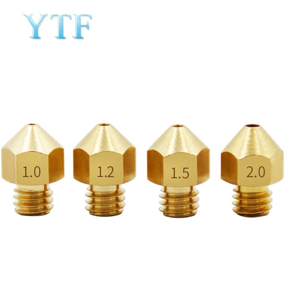 3D Printer MK8 Brass Large Diameter Nozzle DIY Kit Spray Extrusion Head 1.0 1.2 1.5mm 1.75/3mm Accessories