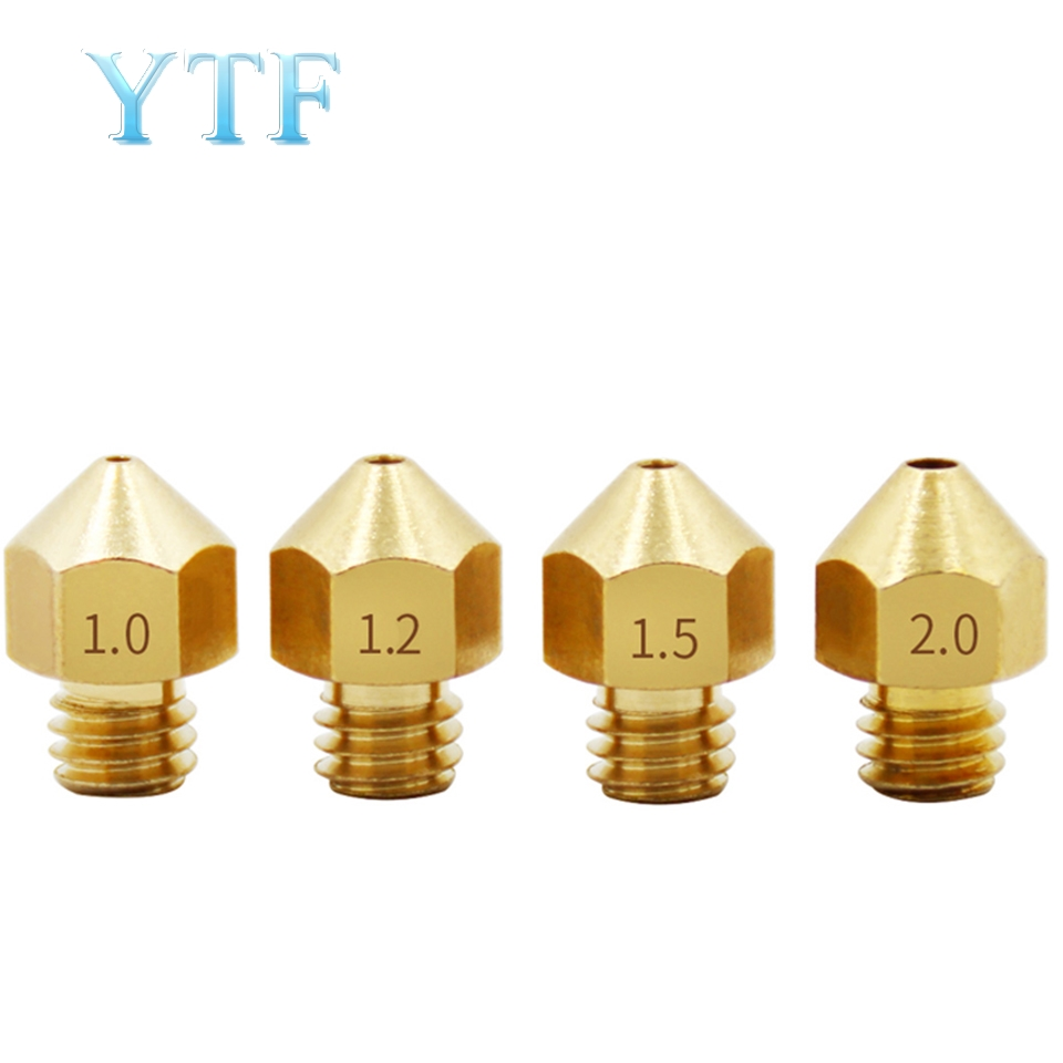 3D Printer MK8 Brass Large Diameter Nozzle DIY Kit Spray Extrusion Head 1.0 1.2 1.5mm 1.75/3mm Accessories