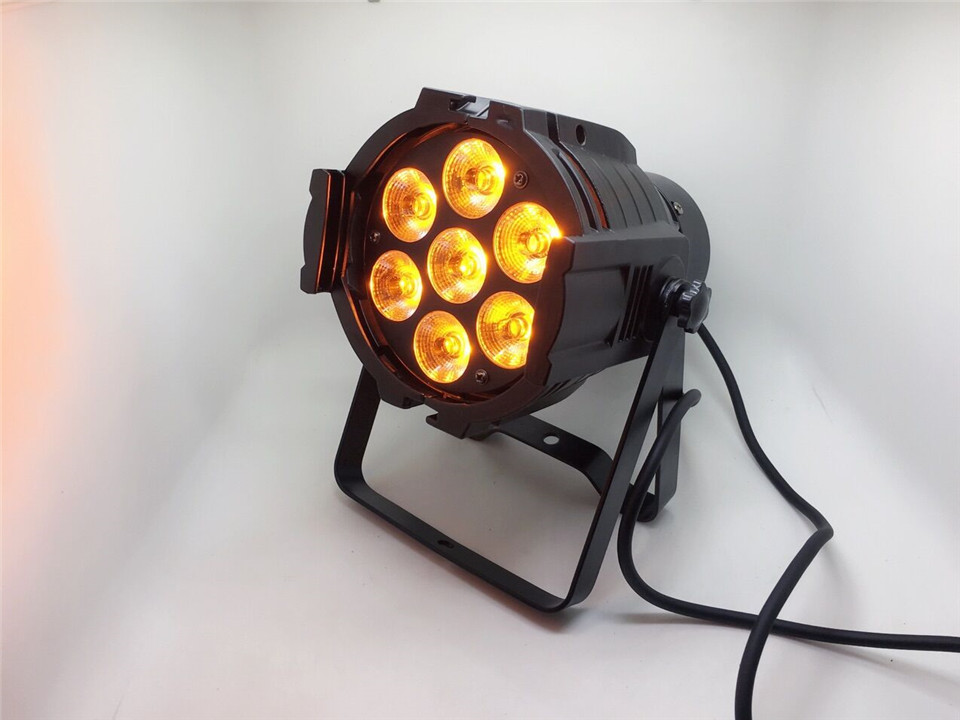 LED Mini Aluminum Spotlight LED 7x18W RGBWA+UV 6in1 LED Stage Light Disco DJ Light Strobe Effect DMX512LED Mini Aluminum Spotlight LED 7x18W RGBWA+UV 6in1 LED Stage Light Disco DJ Light Strobe Effect DMX512