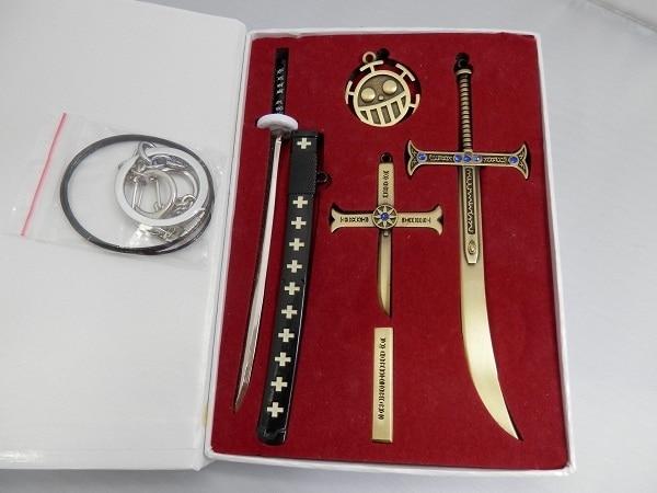 أنيمي قطعة واحدة زورو سكين مشبك مع Scabbard السيف سلاح المفاتيح قلادة بروش ل عيد الميلاد اكسسوارات