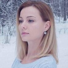 Women's Silver Plated Flower Shaped Earrings