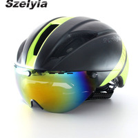 Mens Cycling Road Mountain Bike Helmet Visor Casco MTB Capacete Da Bicicleta Bicycle Helmet Sunglasses Cycling