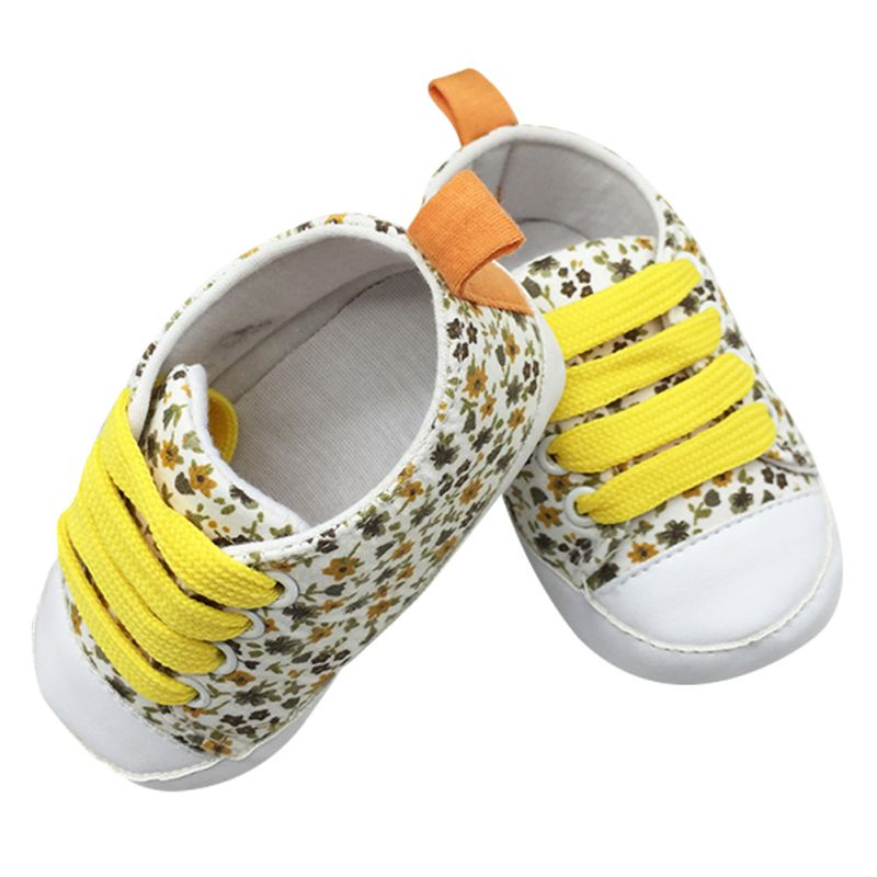 Toddler Kids Casual Lace Up Sneaker Soft Soled Baby Crib Shoes First Walkers 0 18M