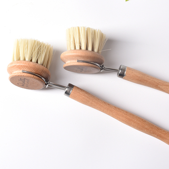 Natural Pan Cleaning Brush Wooden Handle Dish Cup Bottle Pot Washing Brushes Multifunctional Kitchen Cleaning Accessories Tools 6