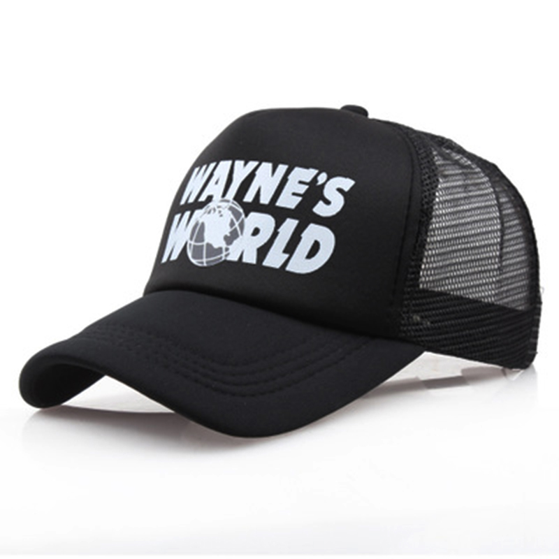 women men fashion WAYNE'S WORLD printing   baseball     cap   cotton adjustable snapback hat cool summer mesh   caps   wholesale