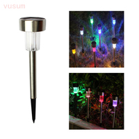 Zonnepaneel LED Spike Reflector Spot Light Landschap Tuin Yard Path Zonnebaden Massage Outdoor Lampen Zon Licht 10 stks/lot