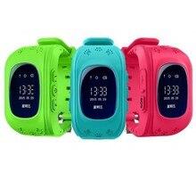 Actualización de 0.96 pulgadas oled smart watch niños kid reloj gsm gprs gps localizador rastreador anti-perdida smartwatch para android ios