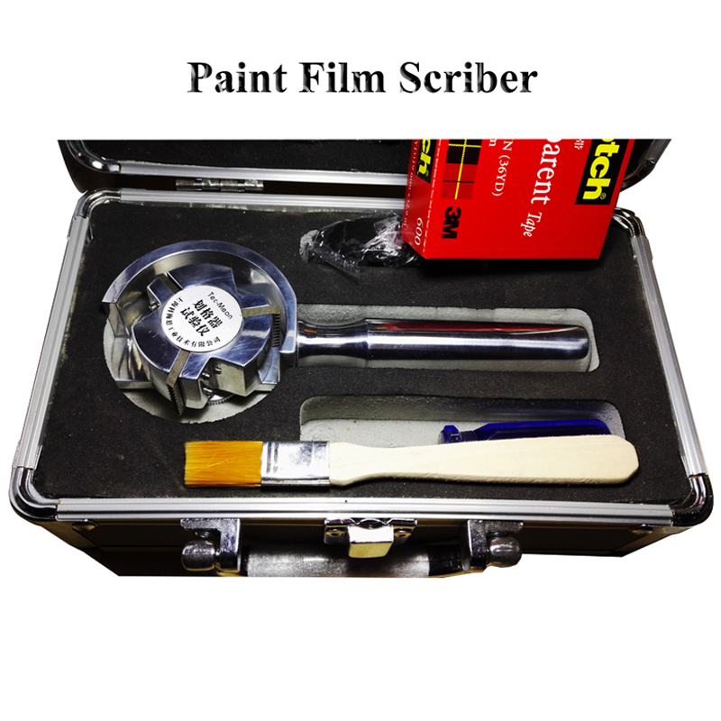 The paint film is marked with a grid of one hundred grid knife rotary type clamped with 3 blades QFH-A morais r the hundred foot journey