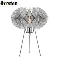 Horsten New Creative Fishing Line Weave Acrylic Table Lamp E14 Art Decoration Desk Table Lights For