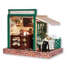3D Wooden DIY Handmade Miniature Dollhouse Building Model Home Decoration Crafts Doll Houses Furniture Kit Toys for Kids Gift(China)