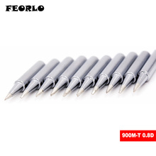 FEORLO 10x 900M-T-0.8D Lead-free solder Iron tip 900M-T for hakko ,atten,quick,Lukey 852D soldering rework station