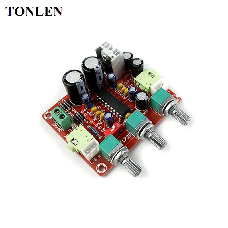 TONLEN XR1075 Preamp Mixer Pre-amplifier BBE Digital Audio Processor Amplifier Front Panel Stereo Pre Amplifier DC AC 12V