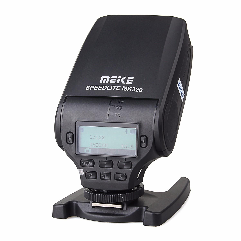 MEIKE MK-320 TTL flash Speedlite for Canon Nikon Fujifilm Olympus Panasonic Sony A7 A7R A7S A7 II A77 II A6000 NEX-6 A58 A99 RX1 mcoplus bg 1500 1 8000s ttl 2 4g wireless speedlite flash for sony mirrorless camera a7 a7r a7s a7ii a77ii a6000 nex 6 a58 a99