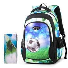 Transporte da gota Sacos de Escola Mochilas para Meninos Soccers para  Crianças Esfriar Leve Mochila para d9e5852d34db6