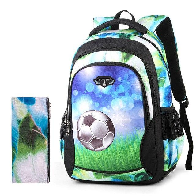 15eeaf784c soccer-backpack football school bags for kids boy primary school backpack  children Lightweight sports backpacks for Children boy
