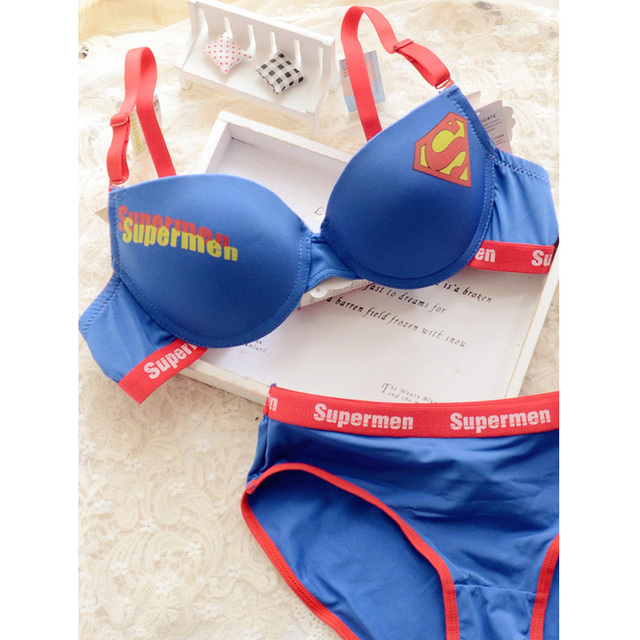 Mode femmes filles ensemble soutien - gorge surhomme push up soutien -  gorge sous - vêtements b820f4f1683