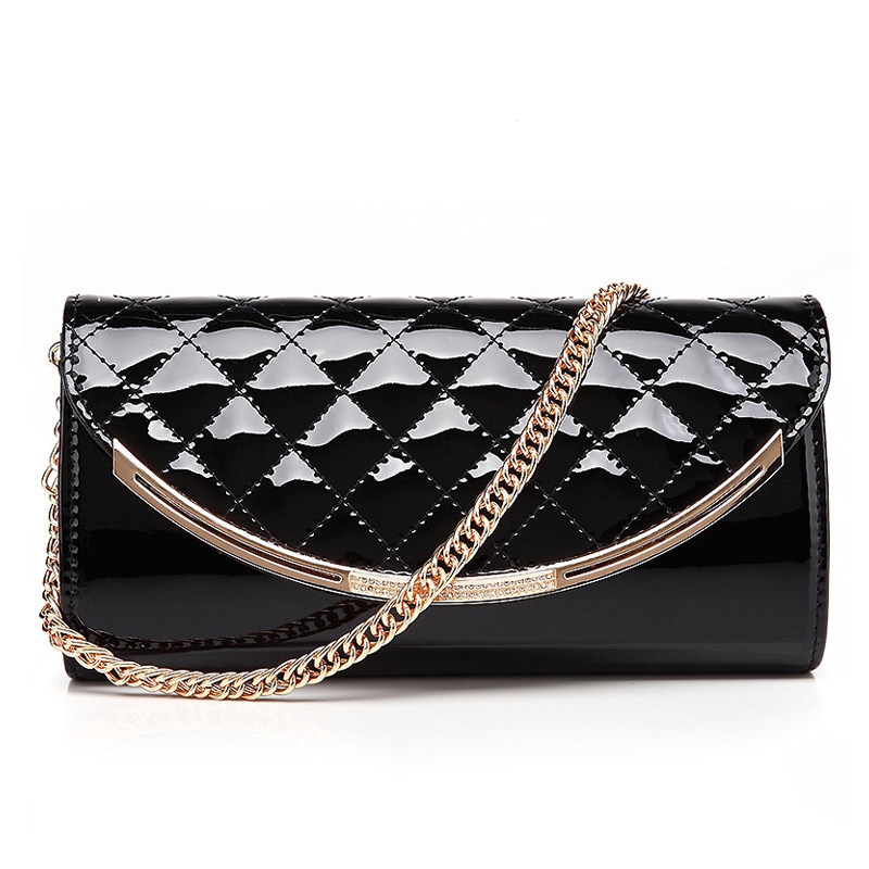 Fashion Trendy Quilted Bag Occident Style Women PU Classic Clutch Bag Classy Diamond Lattice Ladies Chain