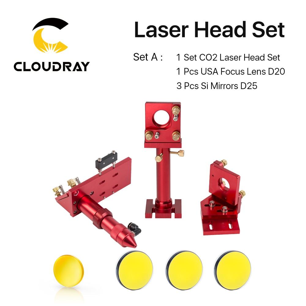Kit de cabezales de láser de CO2 + 1 pieza Dia.20mm Lente de enfoque - Instrumentos de medición - foto 3
