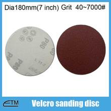 100pcs abralon sanding discs with hook backing for metal polishing Dia180mm(7 inch) rough and fine grit 40~7000# TF007