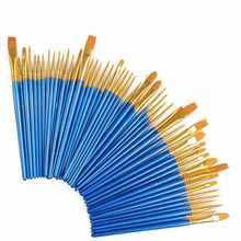 50Pcs Detail Paint Brush Set Professional Synthetic Short Handle Brush Art Brush Supplies Watercolor Oil Paint Brush Set - DISCOUNT ITEM  30% OFF All Category