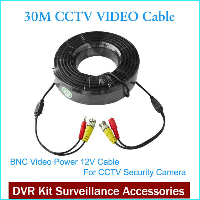 2016 New Cctv Camera Accessories BNC Video Power Siamese Cable for Surveillance DVR Kit 30 mt 65ft CCTV Cable