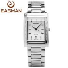 Easman бренд мужской часы мужчины бизнес циркон мозаика сапфир с календарь дата кварц наручные часы 2015 новые группа из нержавеющей стали часы для мужчин