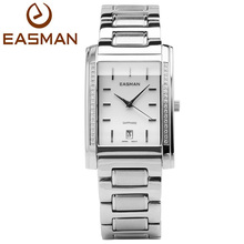 EASMAN Brand Men Watches Men Business Zircon Silver Sapphire With Calendar Quartz Watch Wristwatches New Watches