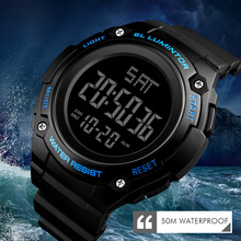 Countdown Watch Male Sport Watch LED Electronic Digital Watch Waterproof Mens Watches Top Brand Luxury Clock Relogio Masculino