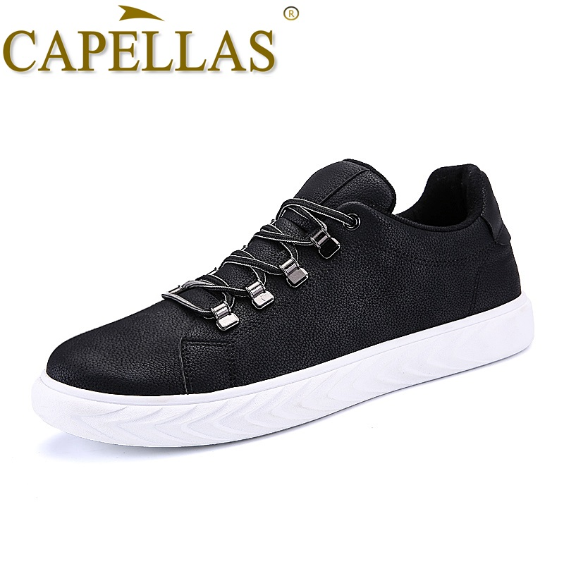 CAPELLAS New Arrival Brand Men`s Shoes Sport Designer Breathable Mens Casual Shoes For Adult Fashion Footwear Leather Shoes Men