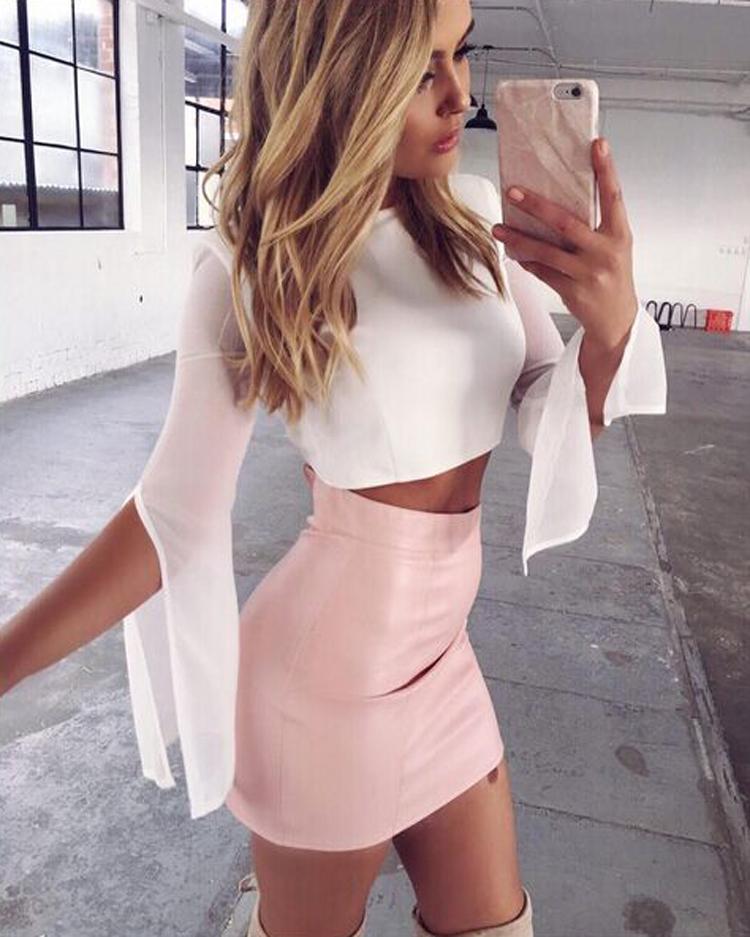 HTB1QXNLOVXXXXaaXpXXq6xXFXXXu - Women Sexy Leather Short Mini Skirt PTC 133