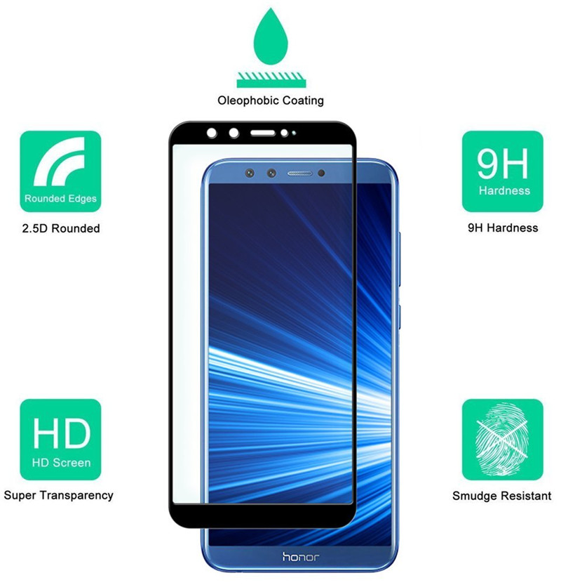 full cover tempered glass screen protector for huawei honor 9 lite 01