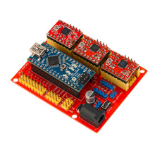 CNC font b Shield b font V4 Expansion Board Set A4988 With USB Cable For font