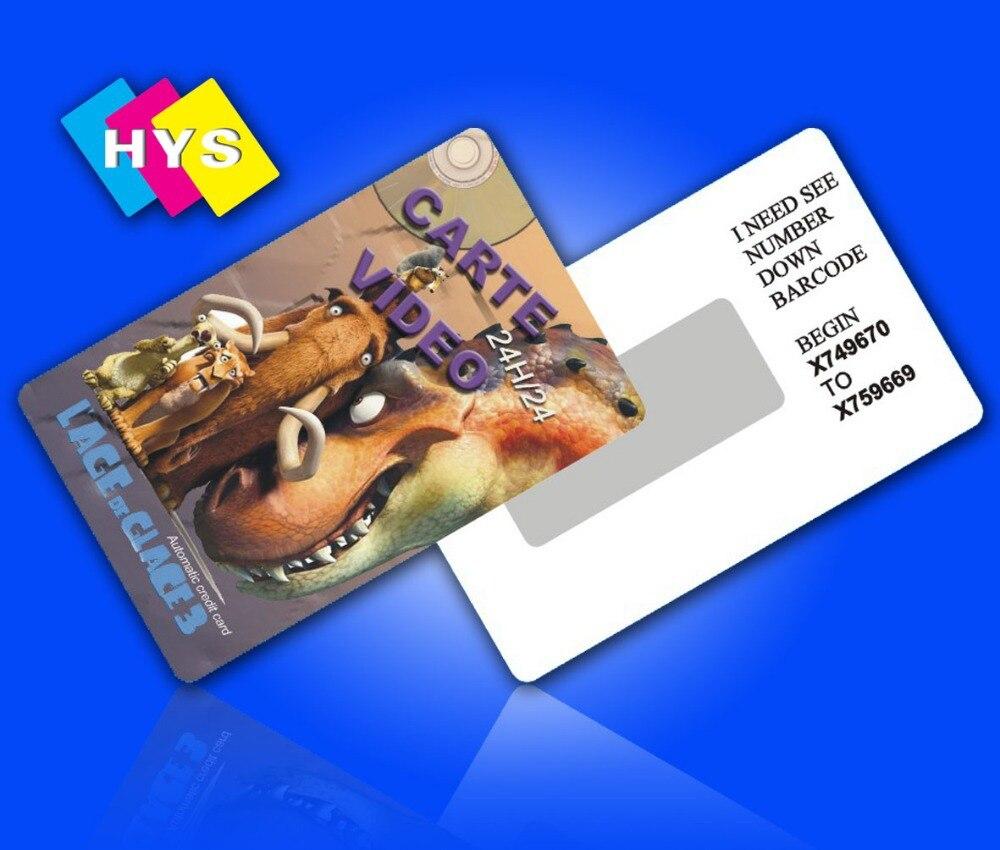 Tarjeta de plástico con etiqueta rayada y suministro de tarjeta de visita