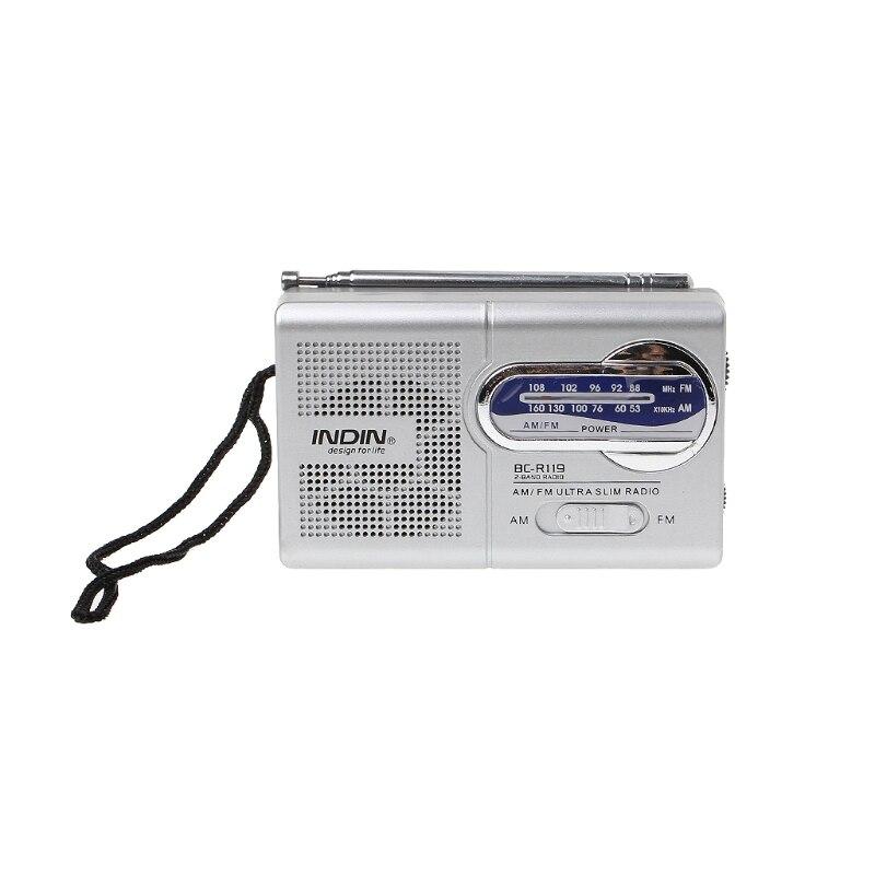 Bc-r119 Tragbare Mini Radio 2-band Am Fm Weltempfänger Versenkbare Antenne Dc 3 V ZuverläSsige Leistung Unterhaltungselektronik