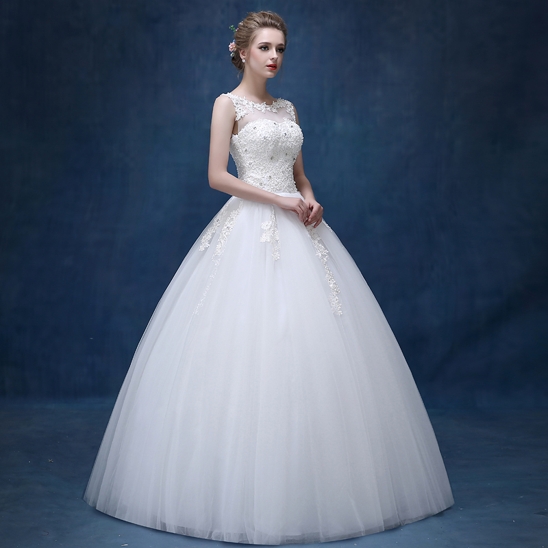da9b9df4b1 Aliexpress.com : Buy 2019 Long A Line Gown Lace Applique bridal dresses  wedding dresses with Beaded white lace dress from Reliable wedding veil  suppliers on ...