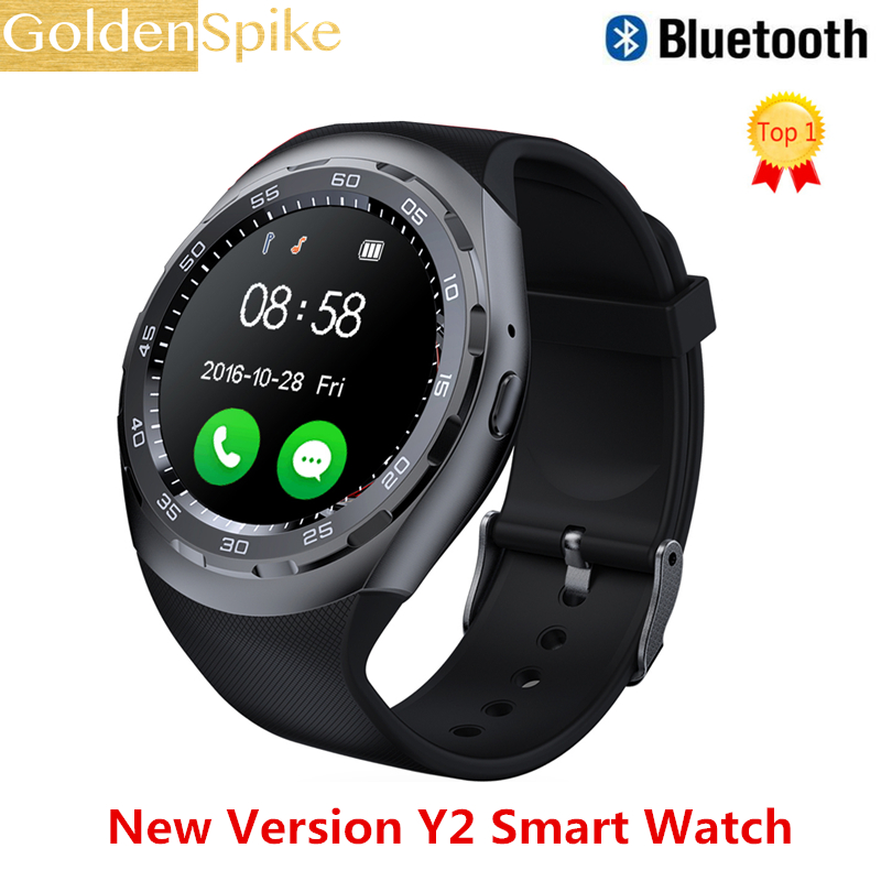 Y2 Smartwatch VS Q18 X6 DZ09 Y1 Plus Bluetooth Smart Watch Reloj Relogio MTK2502 Heart Rate for Apple iPhone Android Phonesモニター接続