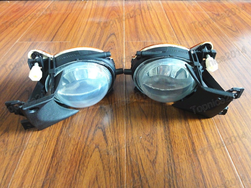 ФОТО 2Pcs New High quality PAIR Front Fog Lights Clear Lens For BMW E39 5 Series 2001-2003