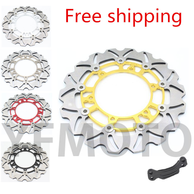 Free Shipping 1pcs Motorcycle Rear Brake Disc Rotor For TMAX500 TMAX 500 2008-2013 09 10 11 12  Stainless steel 1 pcs motorcycle rear brake disc rotor for tmax500 tmax 500 2008 2009 2010 2011 2012 2013 red free shipping