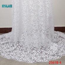 Африканская кружевная ткань Роскошная Высококачественная французская органза кружевная ткань Новое поступление кружевная ткань со стразами для свадьбы YA2561B-4