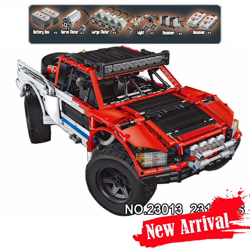 LEPIN 23013 MOC SUV car Pickup Truck Technic Model Building Blocks Bricks Toys Enlighten For Kids Compatible with legoINGly