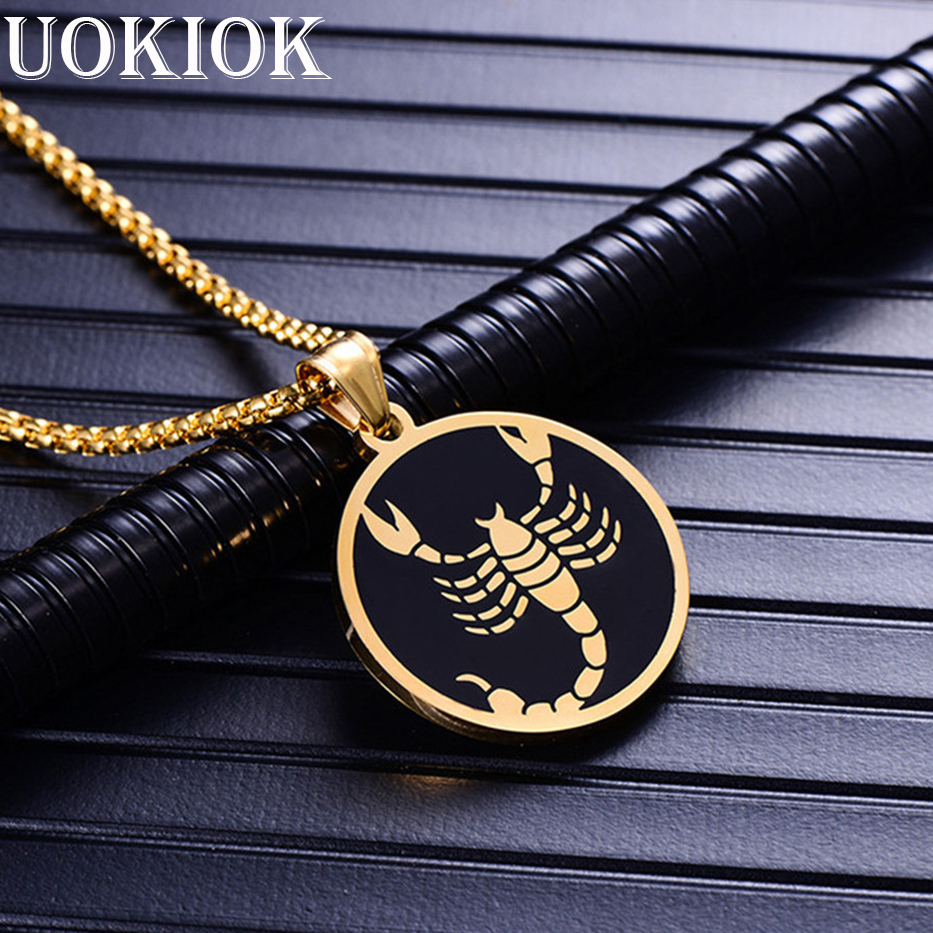 Leo 12 Constellations Necklace For Men Women Birthday Gifts Drop Ship Stainless Steel Gold Scorpio Pendant Zodiac Sign Jewelry In Necklaces From
